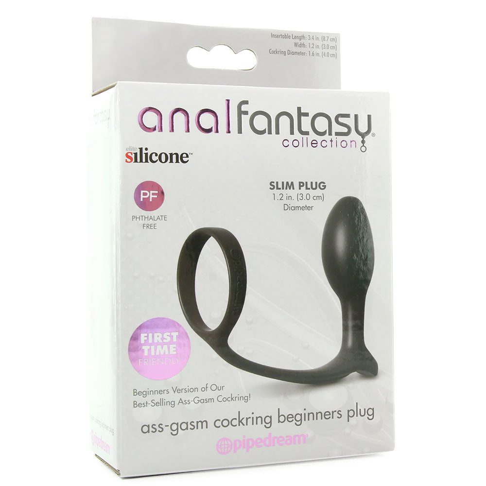 Anal Fantasy Ass-Gasm Beginner Cock Ring Plug
