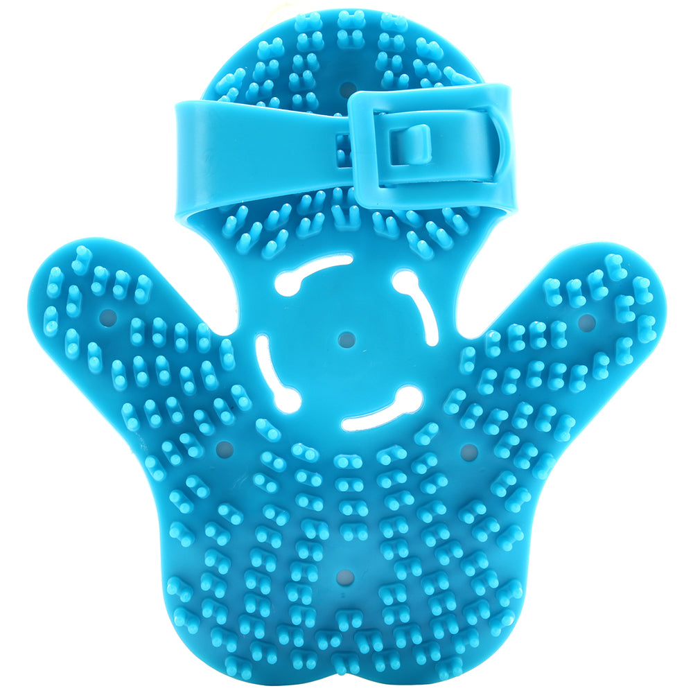 Neon Blue Massaging Roller Glove