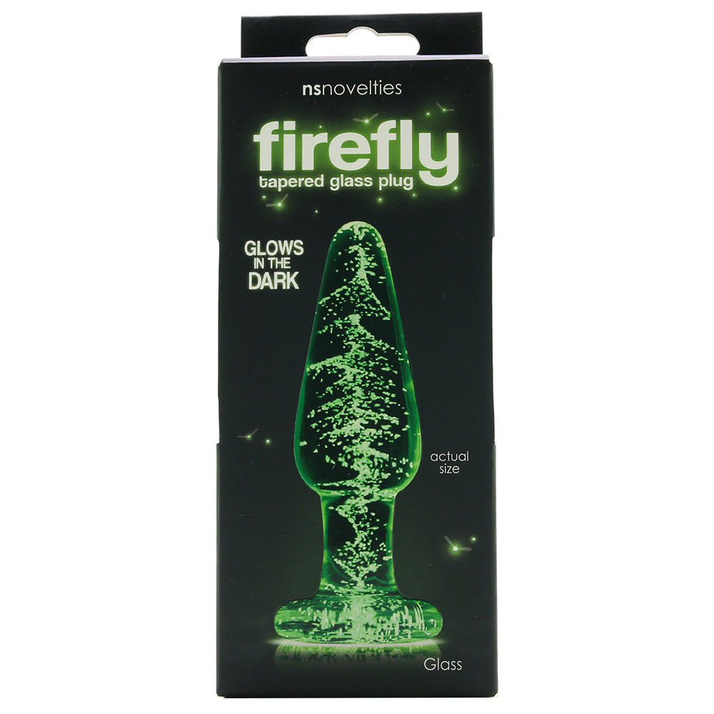 Firefly Medium Glow in the Dark Tapered Glass Plug