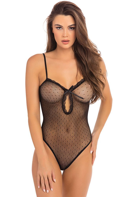 Undone See Through Black Bodysuit