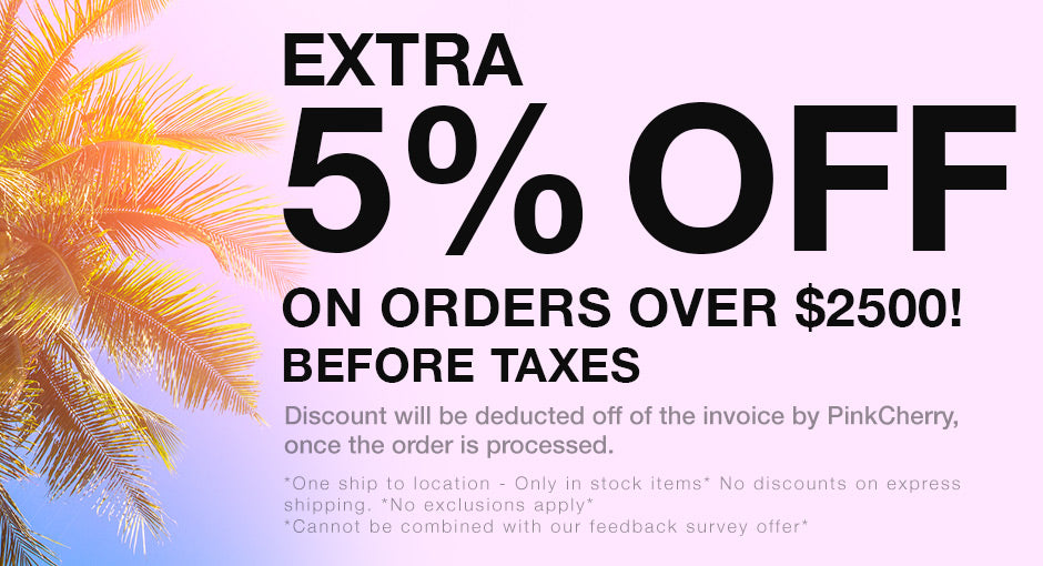 5% Off All Orders Over $2500