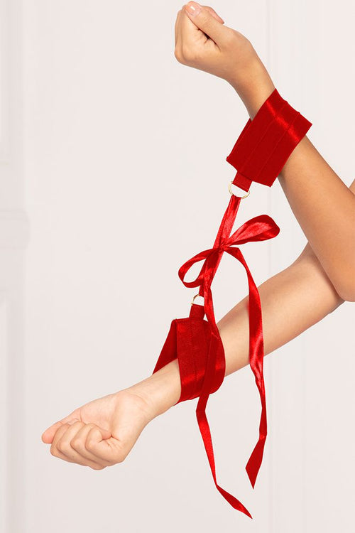 Red Satin Elastic Cuffs