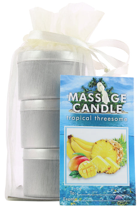 Tropical Threesome Massage Candle Trio
