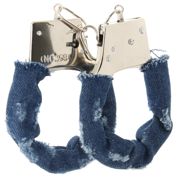 Ouch! Denim Style Metal Hand Cuffs