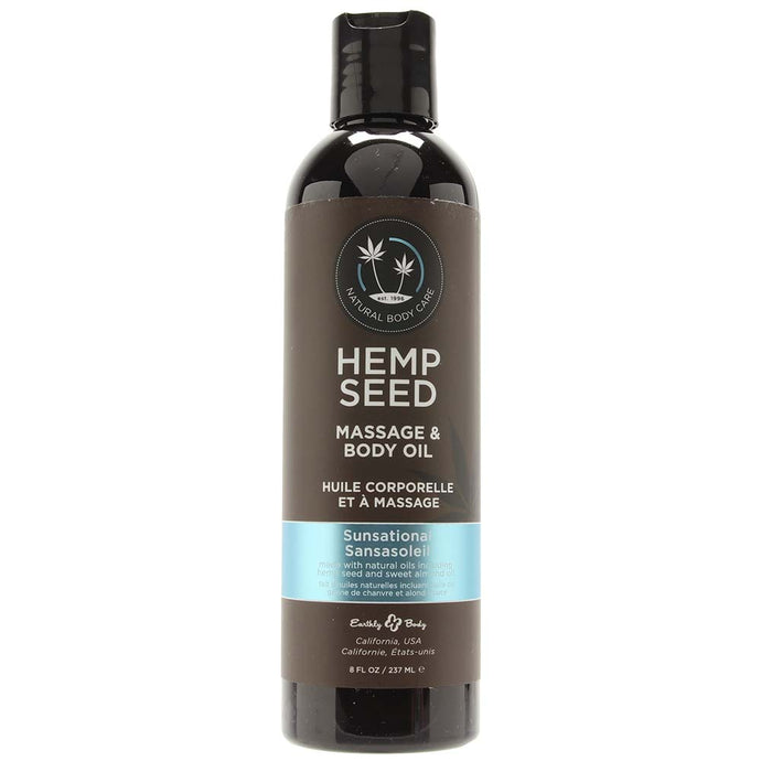 Hemp Seed Massage Oil 8oz/237ml