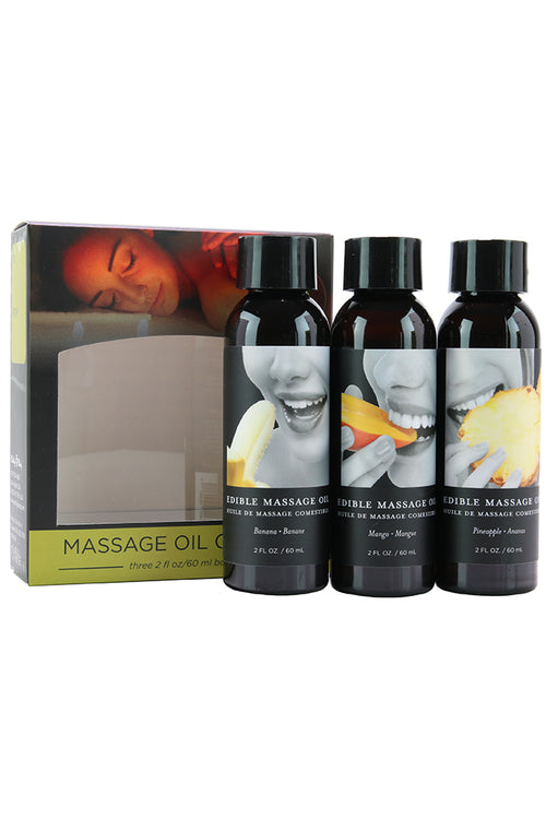 Edible Massage Oil Gift Set 3x2oz
