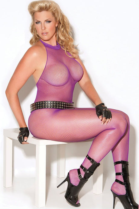 Violet Fishnet Bodystocking