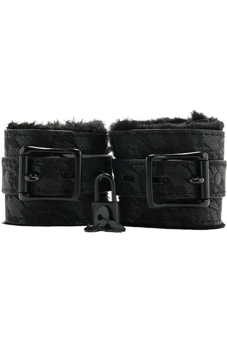 Sincerely Fur Lined Lace Handcuffs