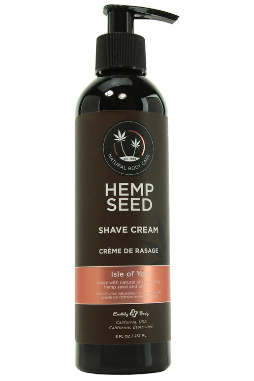 Hemp Seed Shave Cream 8oz/237ml