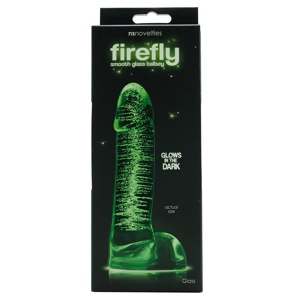 Firefly Glow in the Dark Glass Ballsy Dildo