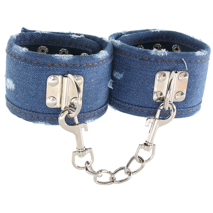 Ouch! Roughened Denim Ankle Cuffs