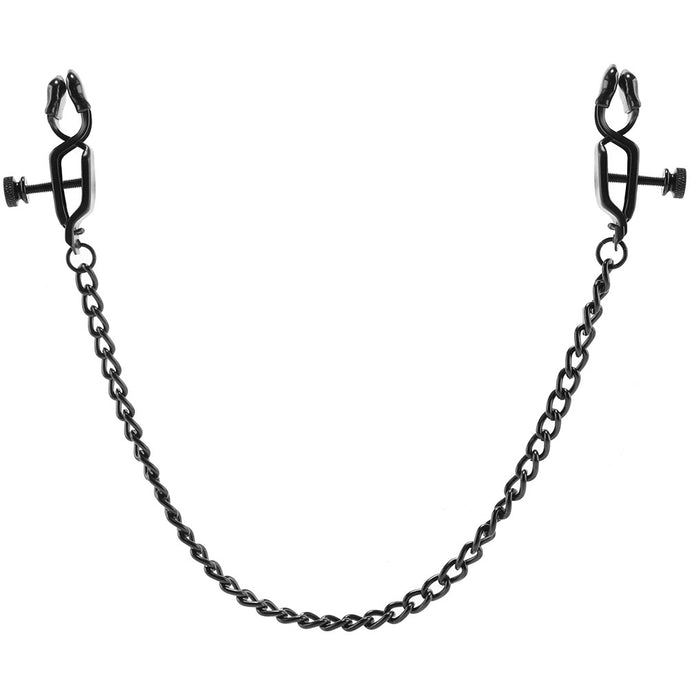 Open Press Nipple Clamps with Black Link Chain
