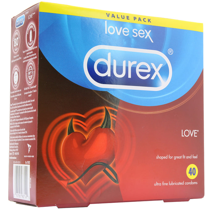 Durex Love Ultra Fine Lubricated Condoms 40 Pack