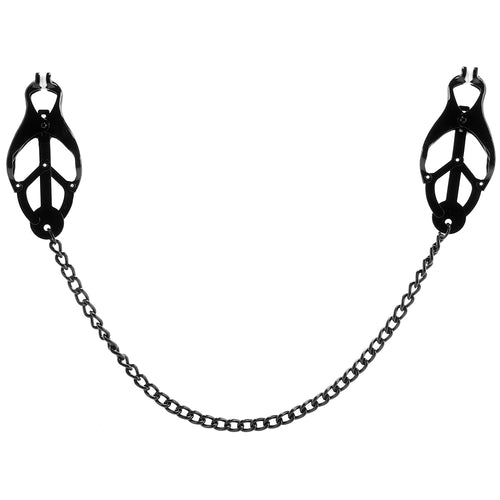 Black Butterfly Clamp with Link Chain