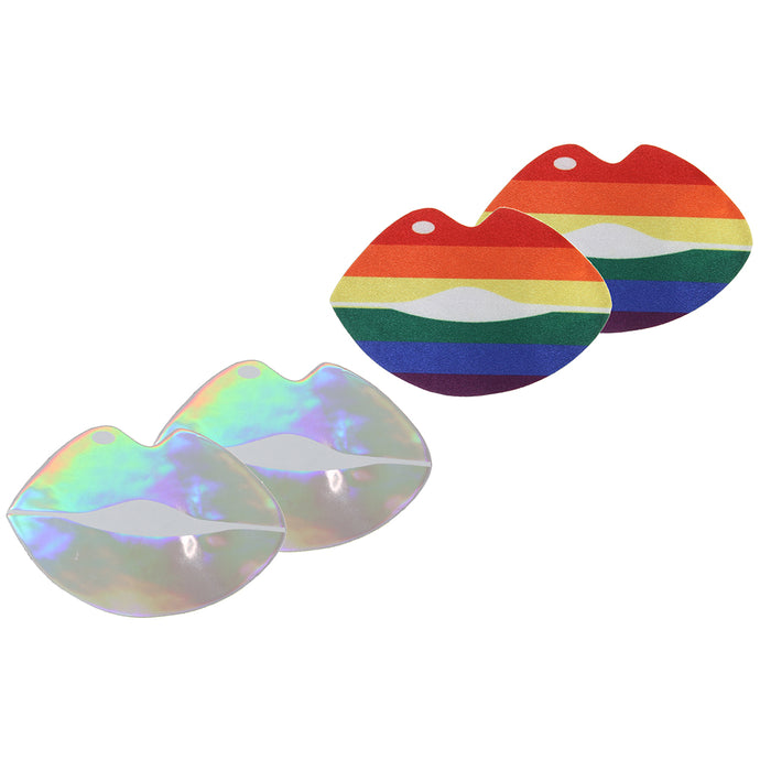 Pride and Holographic Lips Nipple Pasties