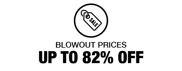 Up To 82% OFF Blowouts