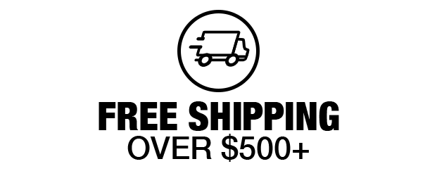 Free Shipping $500+