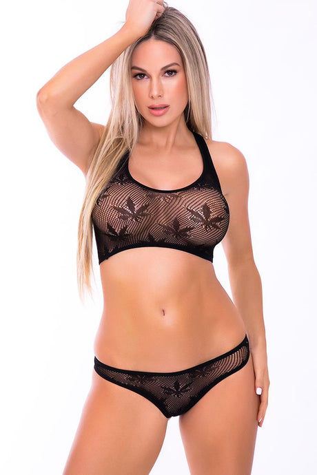 Black Festival Flirt 2pc Bra Set