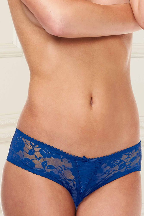 Best-Lace Scenario Open Crotch Cobalt Blue Panty