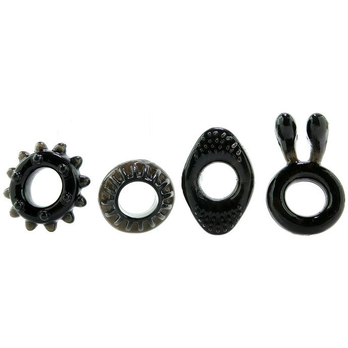 Ring My Bell Cock Ring 4 pc Set
