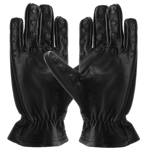 Black Leather Vampire Gloves