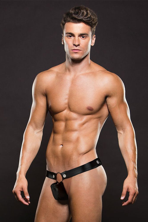 Black European Styling Hercules Thong