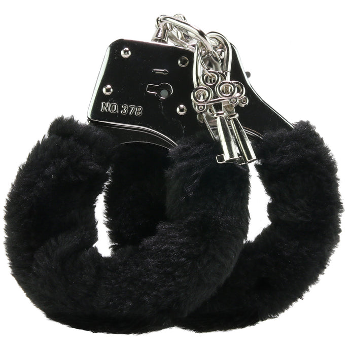 Black Furry Hand Cuffs