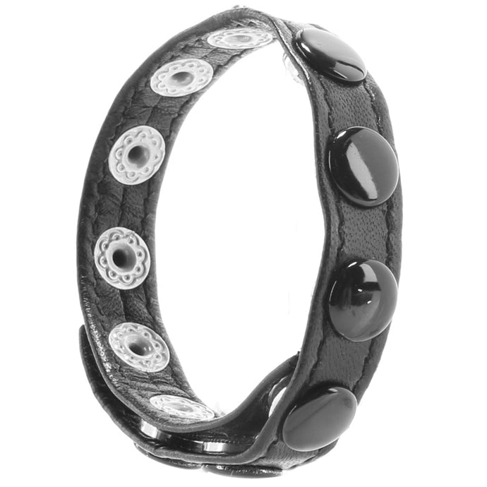 Leather Single Multi Snap Strap Cock Ring
