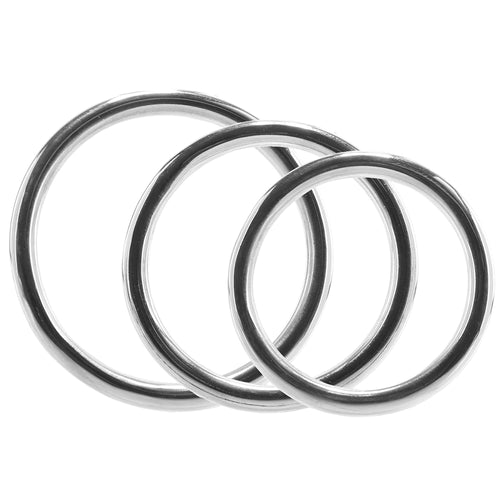 Stainless Steel 3 Piece Cock Ring Set