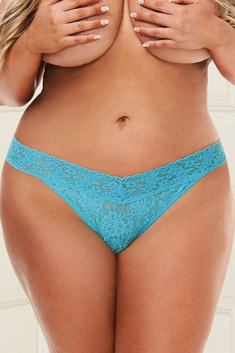 Boundless Blue Lace Thong