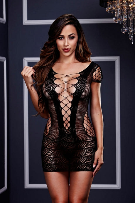 Corset Front Lace Mini Dress