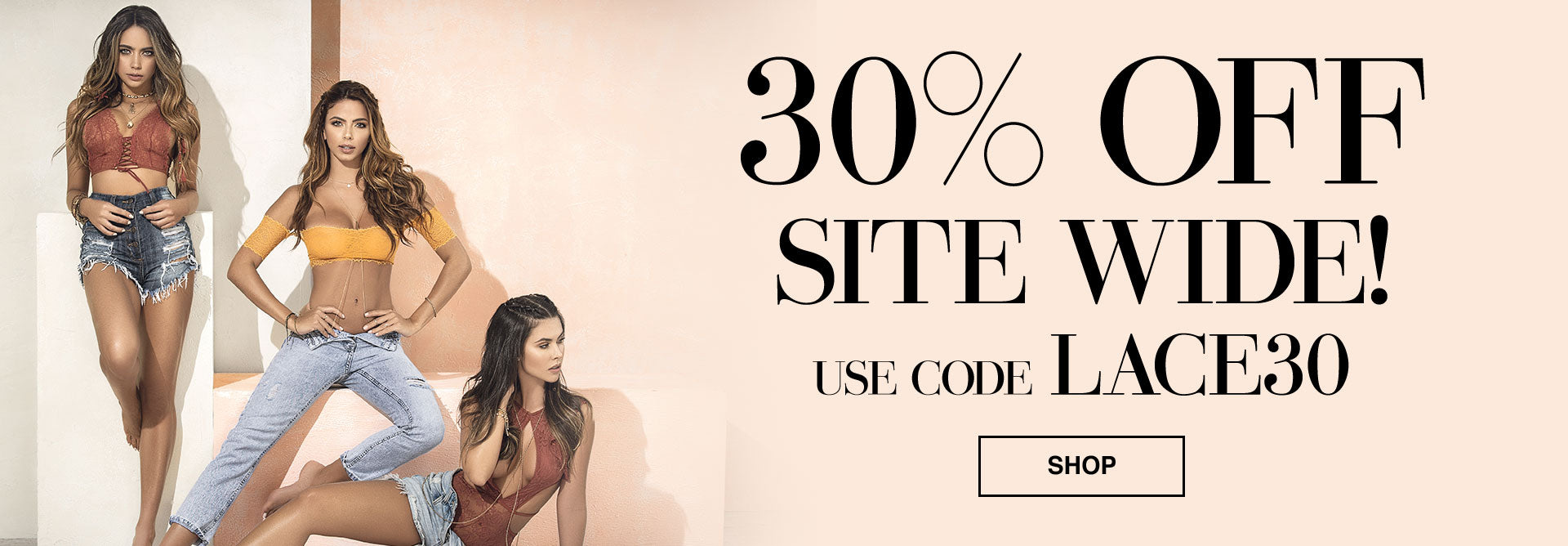 30% Off Site Wide - Use Code LACE30