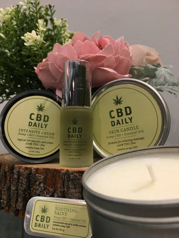 cbd product health body soul vegan friendly candle cream oil