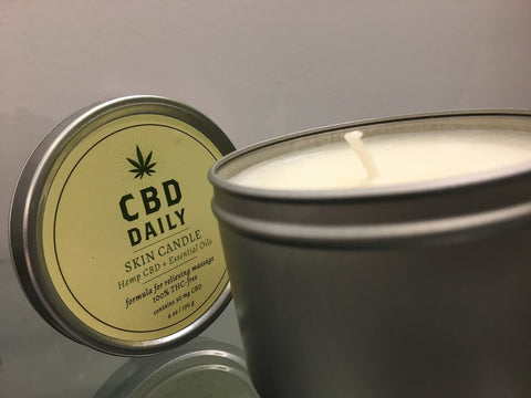 cbd serum hemp oil muscle and joint serum relaxing serum candle