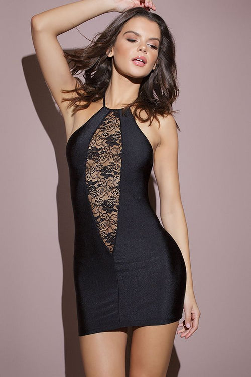 Kissable Black Halter Dress