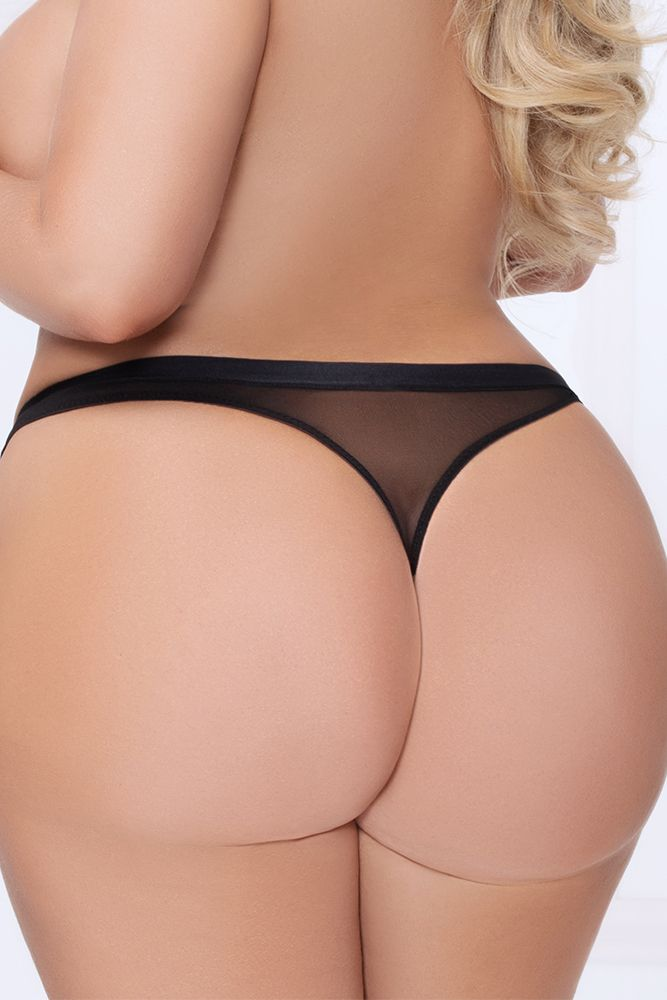 Bombastic Black Lace Thong