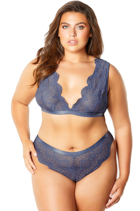 Desiree Blue Indigo Bralette & Panty