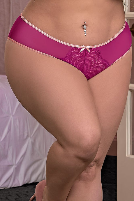Crotchless Panty Cranberry Crush