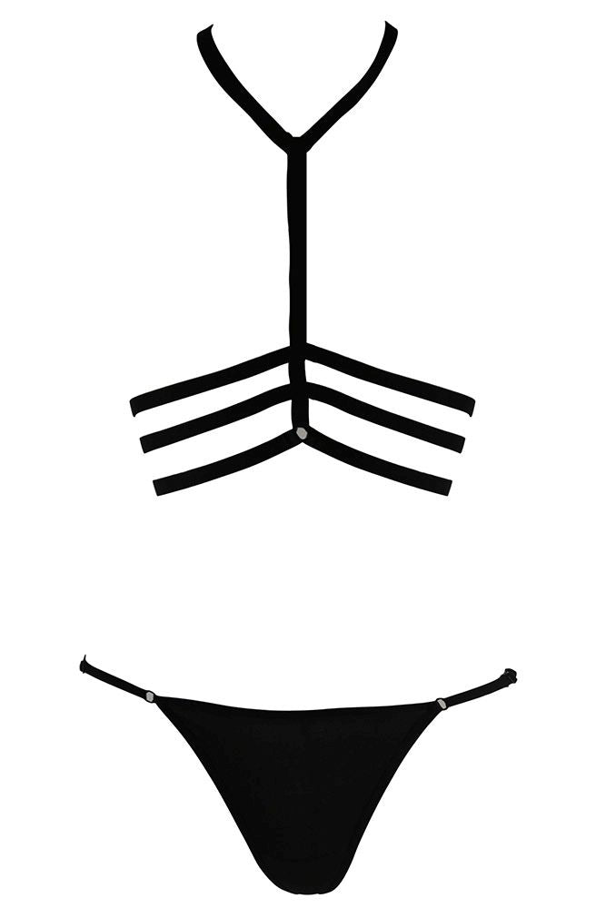 Triple Cage Harness and G-String