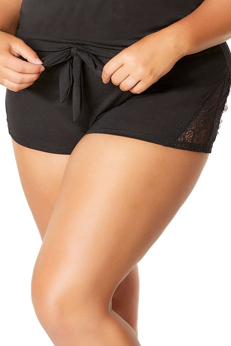 Jersey Little Secret Black Shorties