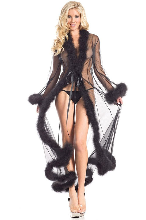 Feather-Featherland Full Length Robe