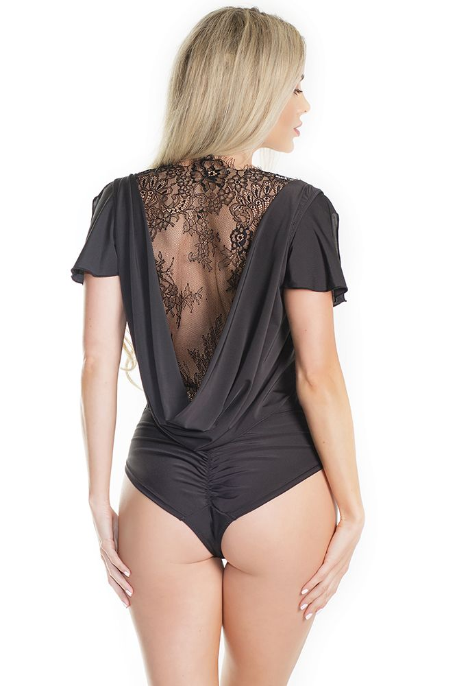 Future Legend Cowl Back Black Bodysuit