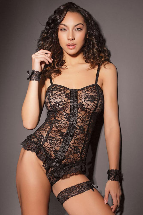 Crackle of My Eye Cami, Panty & Cuffs