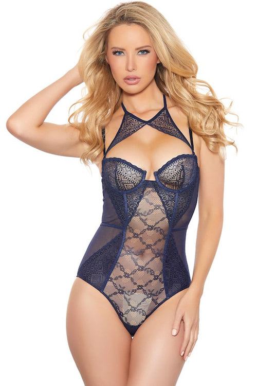 Wavy Navy Geo Teddy