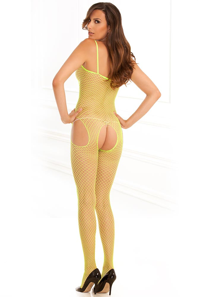 Industrial Net Suspender Bodystocking