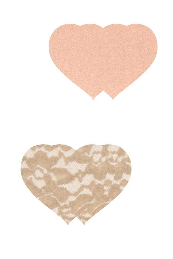 Peekaboos Nude Ambition Heart Pasties