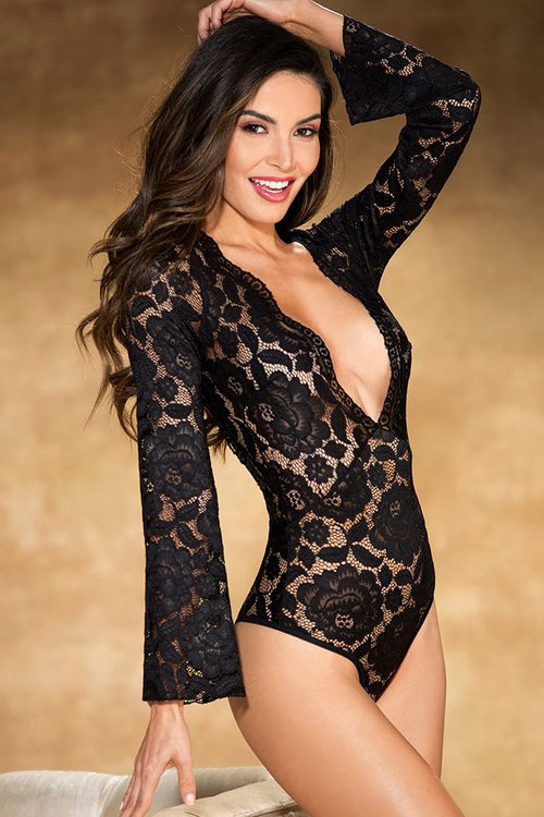Teddy All Over Stretch Lace