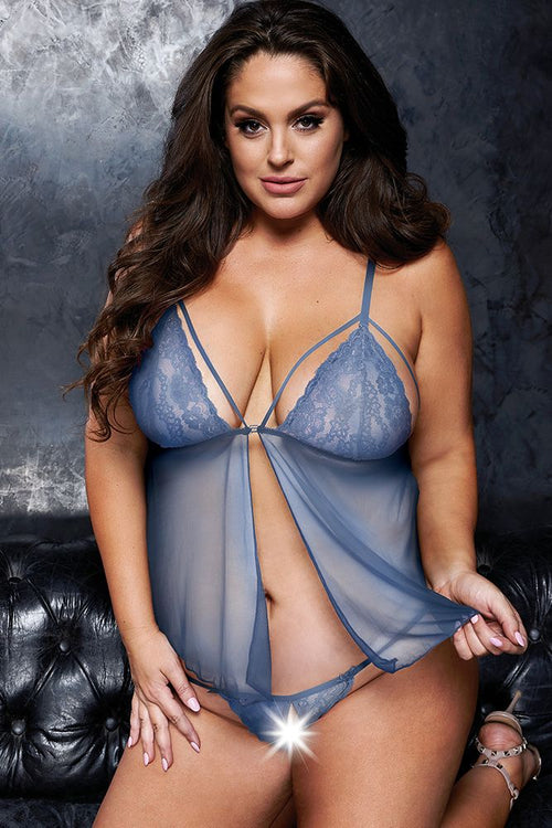 Blue Waterfall Babydoll & G-String