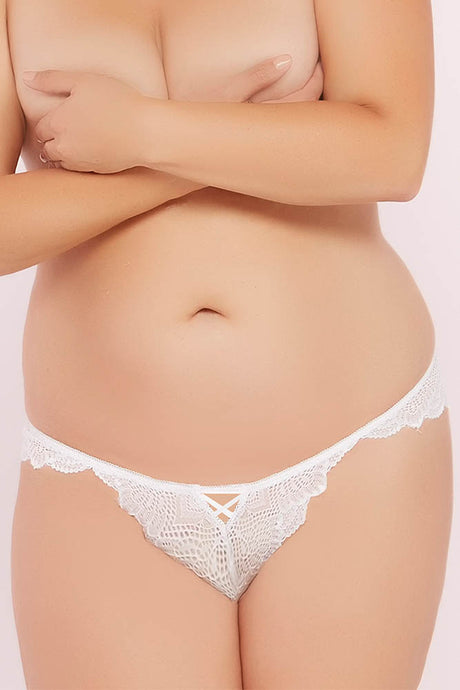 Crisp White Floral Galloon Lace Panty