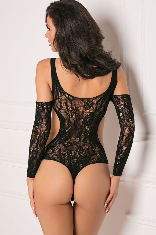Set the Mood Black Bodysuit